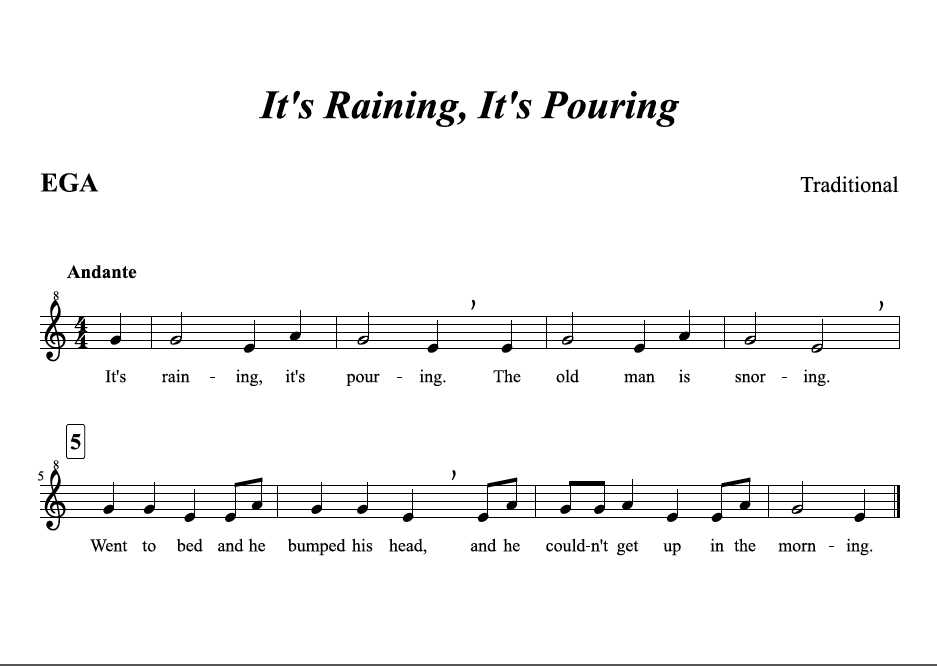 Lyric rain song lyrics : It's Raining, It's Pouring - Recorder Support